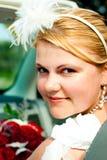 Lächelnde Braut Stockfotos