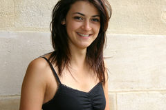 Lächelnde Brunettefrauen Lizenzfreies Stockbild