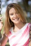 Lächelnde Dame Lizenzfreies Stockfoto
