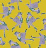 Lächelnde Damhirschkuh springen Stockfoto
