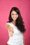 Lächelnde erfolgreiche Frau Stockbilder