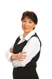 Lächelnde fällige Geschäftsfrau Lizenzfreie Stockfotografie