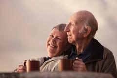 Lächelnde fällige Paare lizenzfreie stockfotos