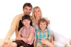 Lächelnde Familie Lizenzfreies Stockfoto