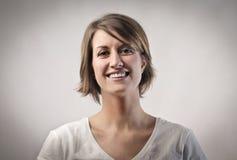Lächelnde Frau Lizenzfreies Stockfoto