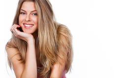 Lächelnde Frau Stockfotografie