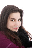 Lächelnde Frau in der warmen Winterkleidung Lizenzfreie Stockfotografie
