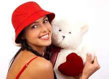 Lächelnde Frau des Zaubers stockfoto