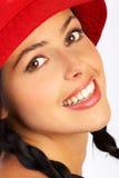 Lächelnde Frau des Zaubers Stockfotos