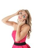 Lächelnde Frau mit kreativer Verfassung Lizenzfreies Stockfoto