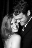 Lächelnde Frau und ein Mann Stockfoto