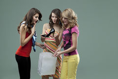 Lächelnde Freunde der jungen Frauen Lizenzfreie Stockbilder