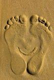 Lächelnde Fußdruck Prinzessin Stockfoto