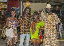 Lächelnde gambische Leute Lizenzfreie Stockbilder