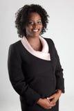 Lächelnde Geschäftsfrau Stockfoto