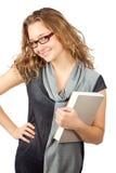 Lächelnde Geschäftsfrau. stockbild