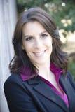 Lächelnde Geschäftsfrau stockbilder