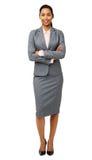 Lächelnde Geschäftsfrau Standing Arms Crossed Stockfoto