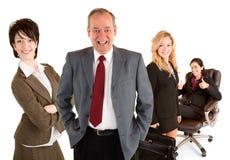 Lächelnde Geschäftsleute Stockfoto