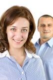 Lächelnde Geschäftsleute stockbilder