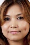Lächelnde Gesichter der Asiatin Lizenzfreies Stockbild