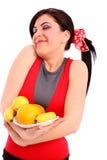 Lächelnde gesunde Diät des Frauenerscheinens Lizenzfreie Stockfotos