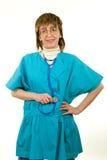 Lächelnde Gesundheitspflege-Arbeitskraft Stockfotos
