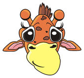 Lächelnde Giraffe Stockfoto