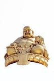 Lächelnde goldene Buddha-Statue Lizenzfreie Stockfotografie