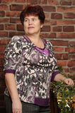Lächelnde Großmutter Stockfotografie