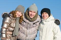 Lächelnde Gruppe der jungen Leute Stockfotografie