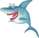Lächelnde Haifischkarikatur Stockfoto