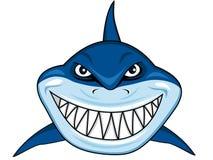 Lächelnde Haifischkarikatur Lizenzfreie Stockfotografie