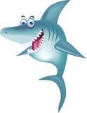 Lächelnde Haifischkarikatur Lizenzfreies Stockfoto