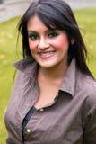 Lächelnde indische Frau Stockbild