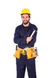 Lächelnde junge Arbeitskraft Lizenzfreie Stockfotos