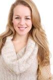 Lächelnde junge blonde Frau Lizenzfreie Stockfotos