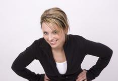 Lächelnde junge Frau Lizenzfreie Stockfotografie
