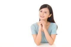 Lächelnde junge Frau Stockbilder