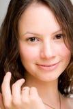 Lächelnde junge Frau, geheiratet Stockfotos