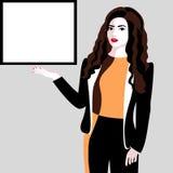 Lächelnde junge Geschäftsfrau Lizenzfreie Stockfotos