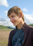 Lächelnde junge Männer Lizenzfreies Stockfoto