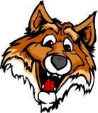 Lächelnde Karikaturfox-Maskottchen-Grafik Lizenzfreies Stockfoto