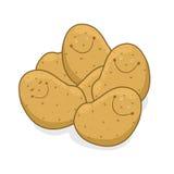 Lächelnde Kartoffelabbildung Lizenzfreies Stockfoto