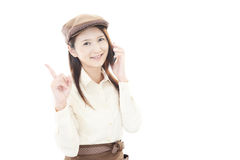 Lächelnde Kellnerin Lizenzfreie Stockfotografie