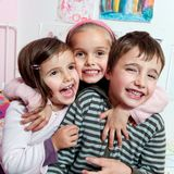 Lächelnde Kinder Stockfotos