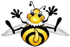 Lächelnde komische Biene Stockfoto