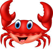 Lächelnde Krabbe der Karikatur Stockfotografie