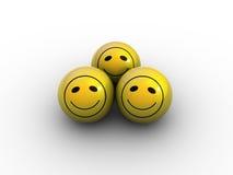 Lächelnde Kugeln lizenzfreie stockbilder