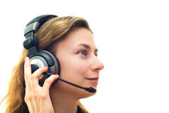 Lächelnde Kundenbetreuung lizenzfreie stockfotografie